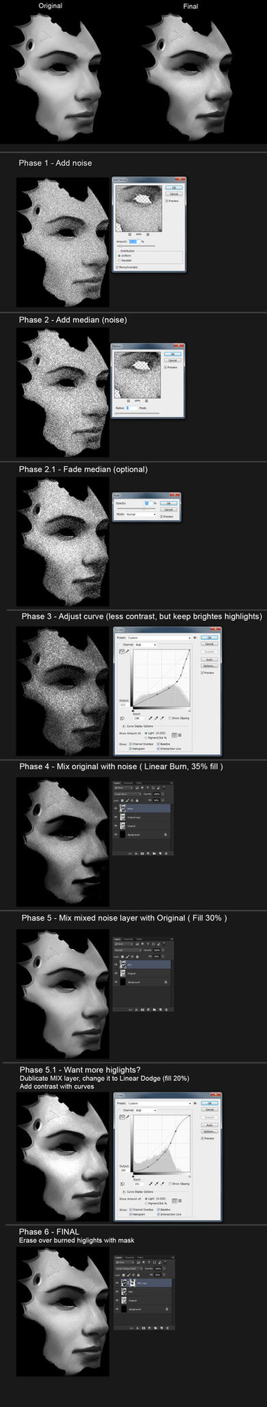 Face Skin Texture with Noise Filters - Tutorial by StMan
