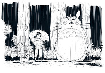 Weekly Character A to Z - Totoro and Tetsuo by StMan