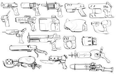W20170722 - gun doodles by StMan