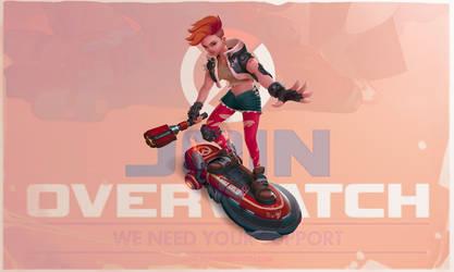 Teen Brigitte - Overwatch fan art by StMan