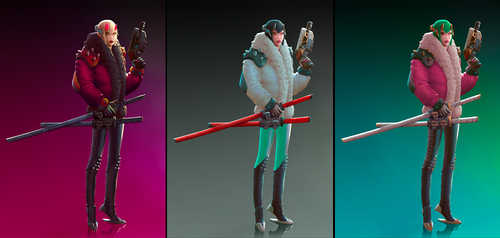 Cyberposh color variations by StMan