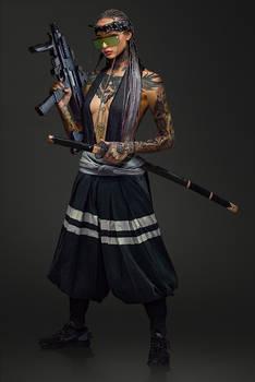 Street Samurai Girl - Photobashing
