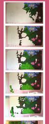 Fairytale Mural WIP by dum-donutz