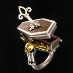 Locking Coffin Ring with Key
