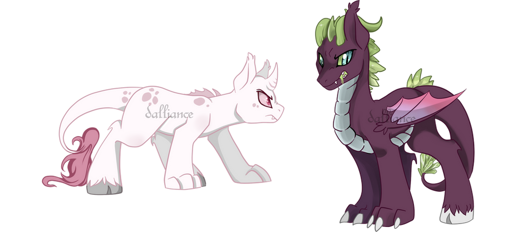 Draconquin Pony Auction [CLOSED] by SILK-RIBBON