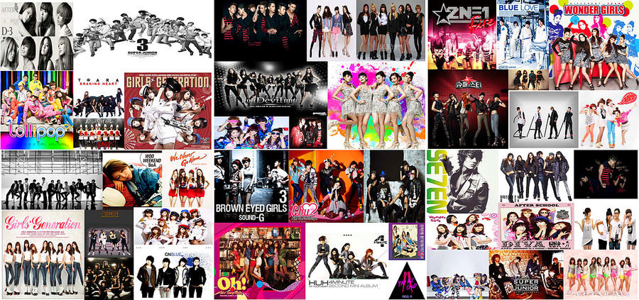 kpop idol collage wallpaper by tplt95