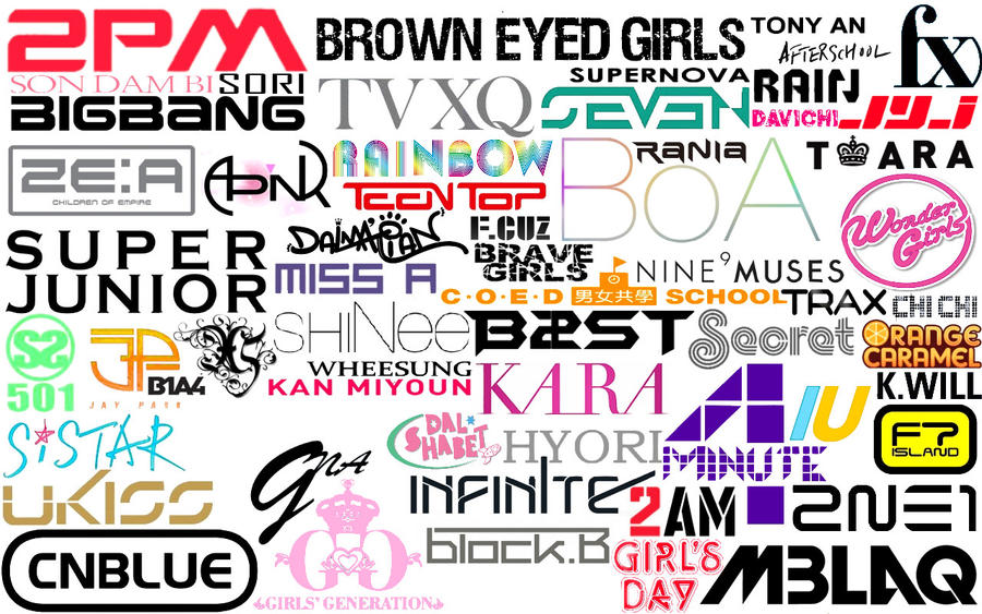 KPOP Logos Wallpaper By Tplt95