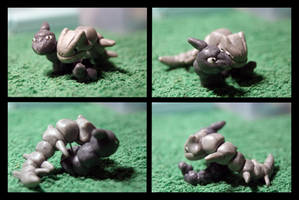 Fimo Steelix and Amorphonix by inu-chan-free