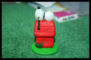 Fimo Snoopy Figurine by inu-chan-free