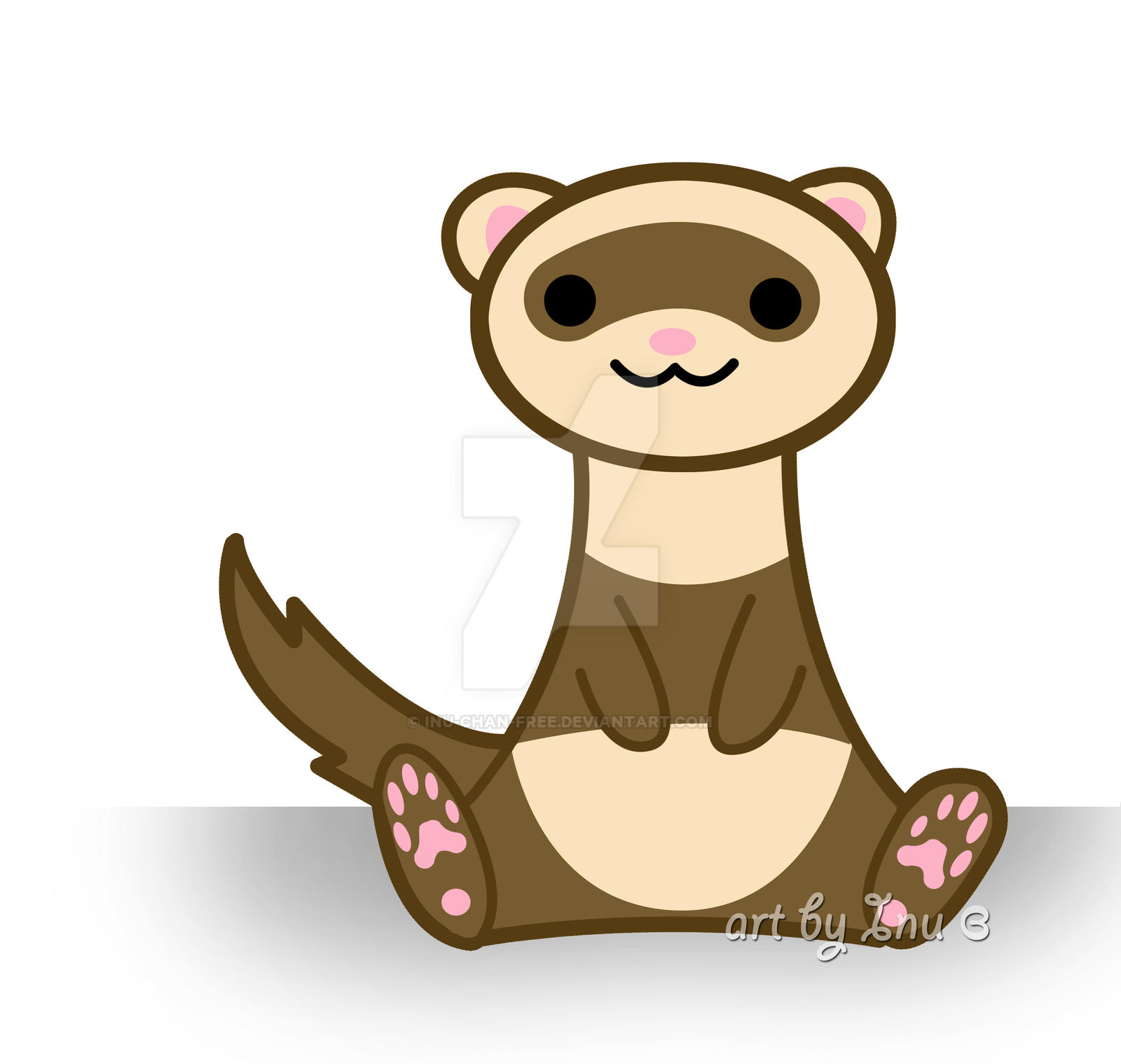 cute ferret by inu chan free
