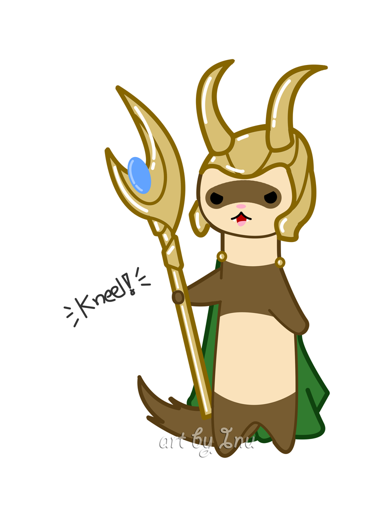 Cute ferret as Loki by inu-chan-free