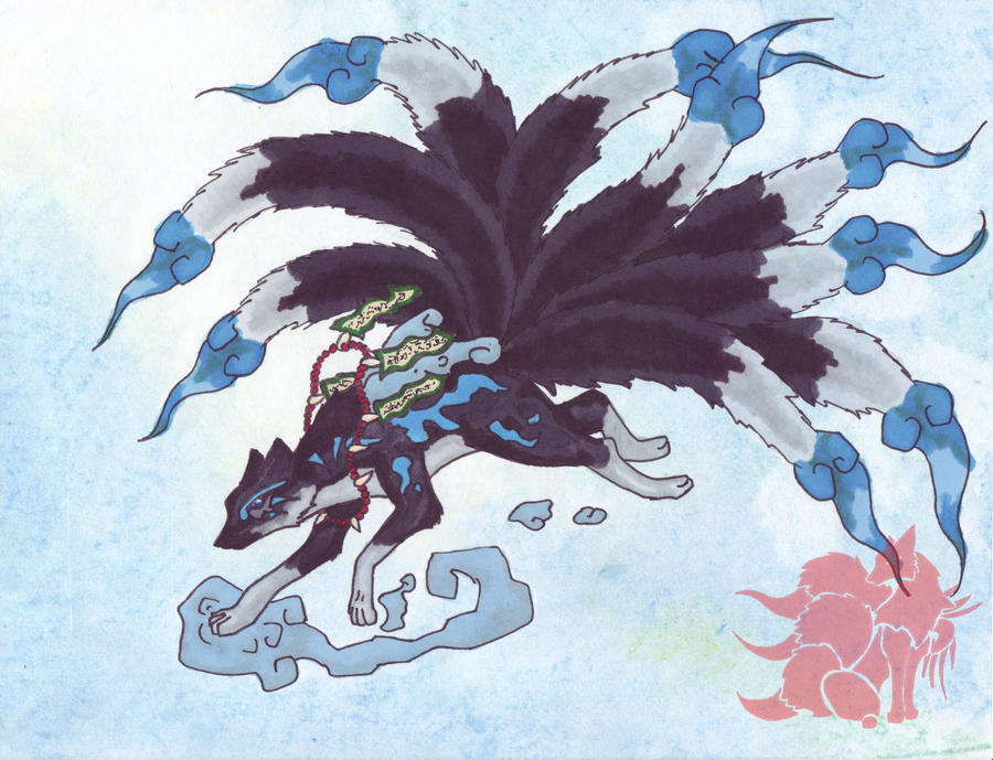 Dark Kitsune by Akaikatsugan on deviantART