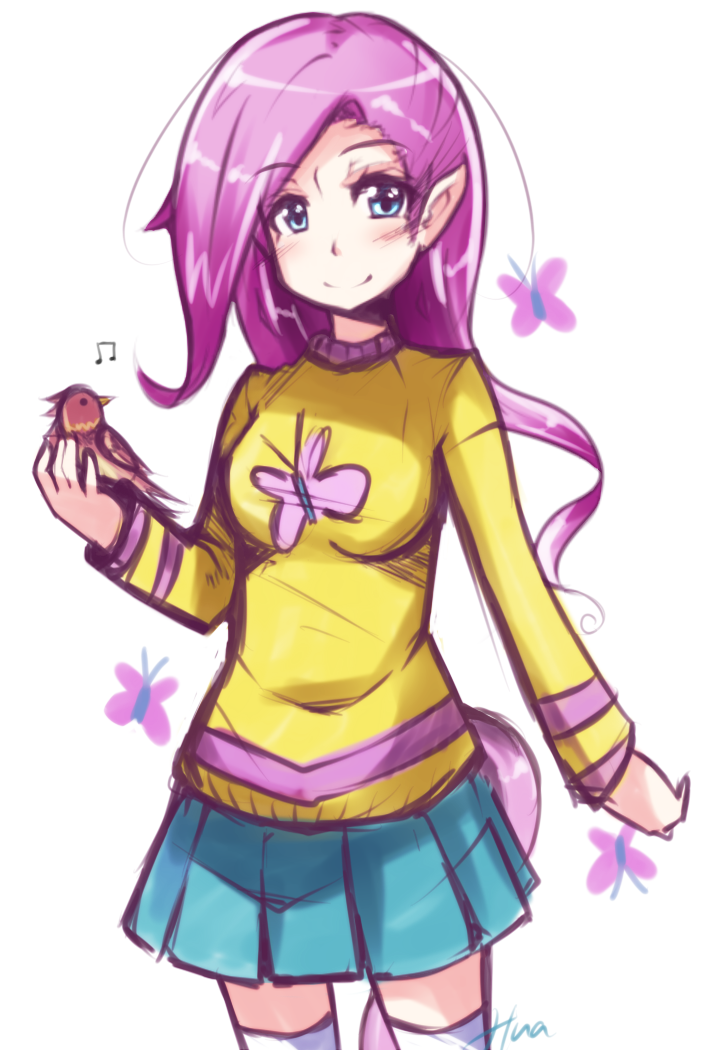 Humanized Fluttershy by Hua113