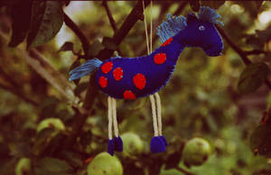 Horse with oranges