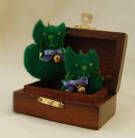 Twin cats - earrings