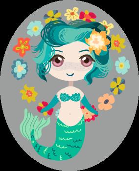 Little blue mermaid