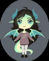 Green dragon girl