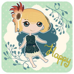 Happy flapper girl