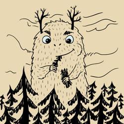 Giant monster Treeeater