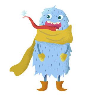 Monster and snowflake