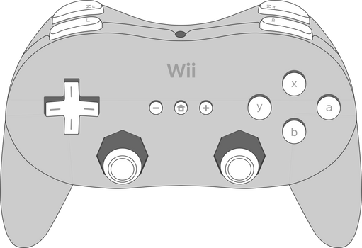 Wii Classic Controller Pro Vector Art
