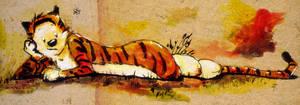 Hobbes Lounging by cheeeeep