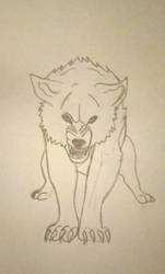 Growling Wolf