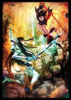 Ryuko vs. Satsuki by dawn-alexis