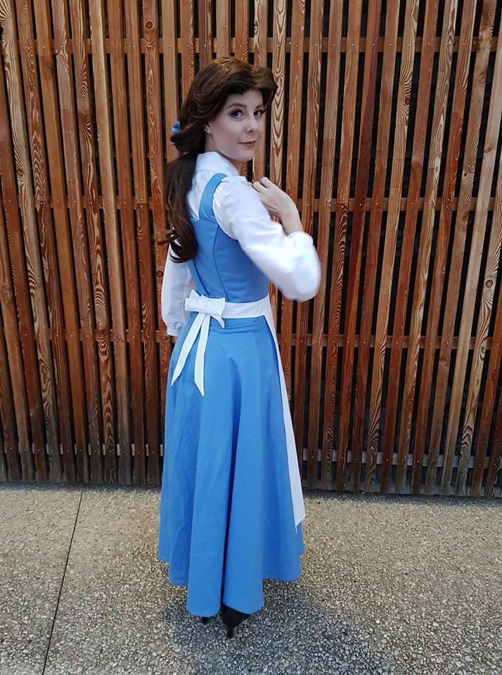 Belle Blue dress Disney Cosplay by JulysFactory