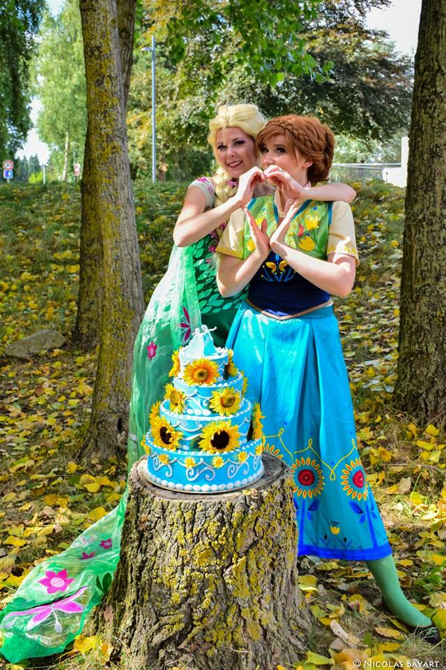 Frozen FEVER Cosplay Elsa Anna by JulysFactory