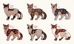 striped kitties $3/300 points flatsale || 1/6 open