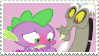 Discord x Spike - Stamp by Pony-Stamps