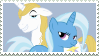 Trixie x Blueblood - Stamp by Pony-Stamps