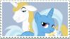 Trixie x Blueblood - Stamp by Pony-Stamps