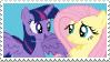 Twilight x Fluttershy - Stamp by Pony-Stamps