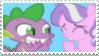Spike x Diamond Tiara - Stamp by Pony-Stamps
