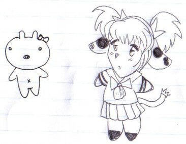 Its Hello Piggy and Sailor Moo by carly579