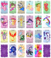 Pony Tarot Deck - Major Arcana by Rannva