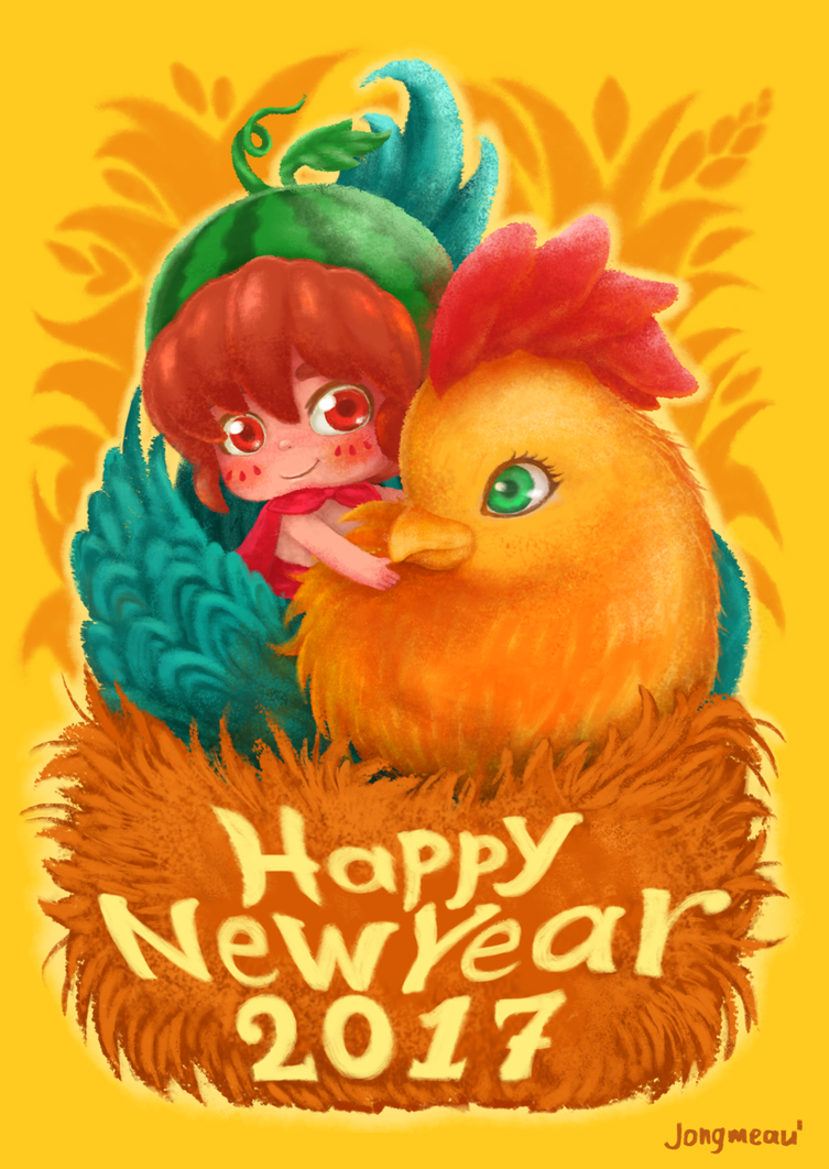 Ulid is riding the Rooster | Happy New Year 2017 by JONGMEAU