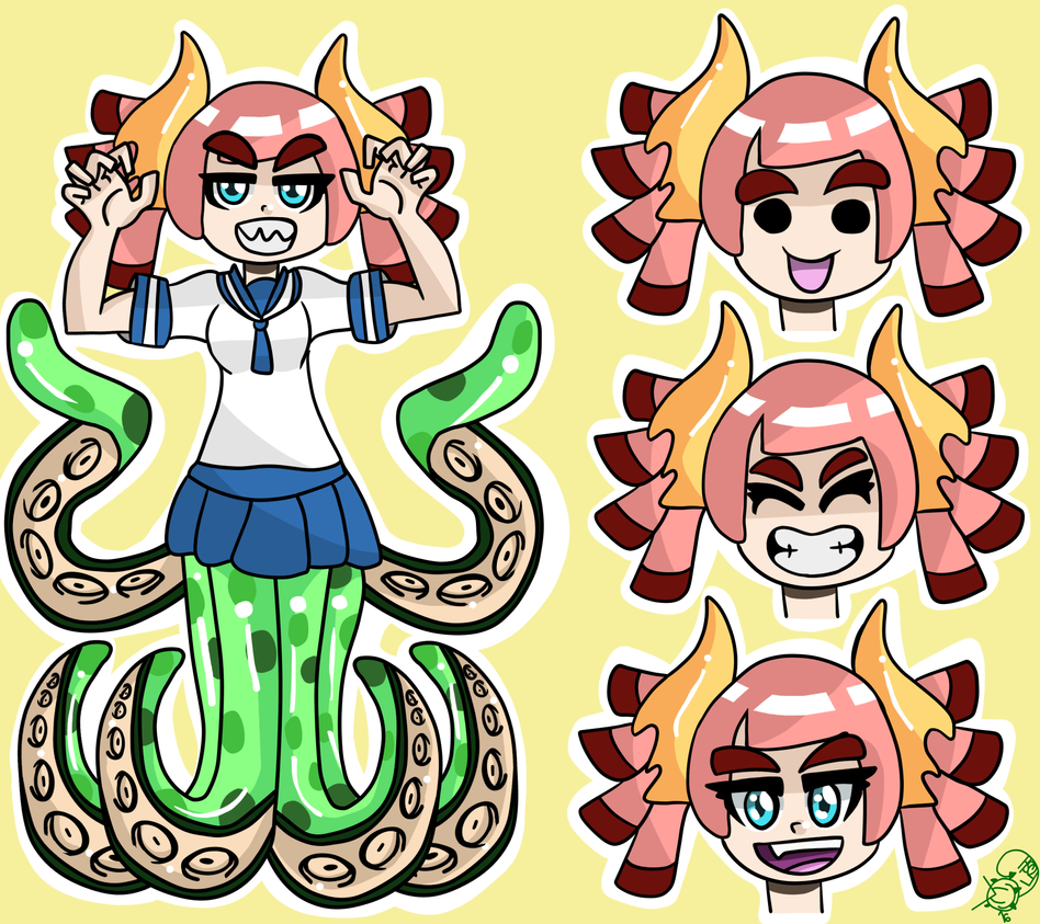 Demon Squid OC by foshizzel