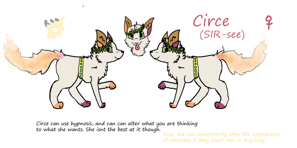 Circe the fox ref by KangarooDragon