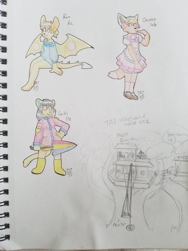 sketchbook page spam #3 by KangarooDragon