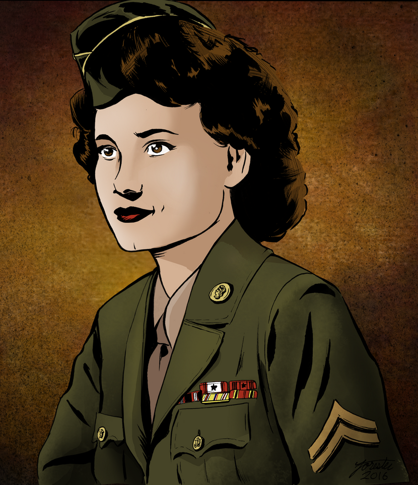 WAC - Women's Army Corp soldier in WWII by S-Forester
