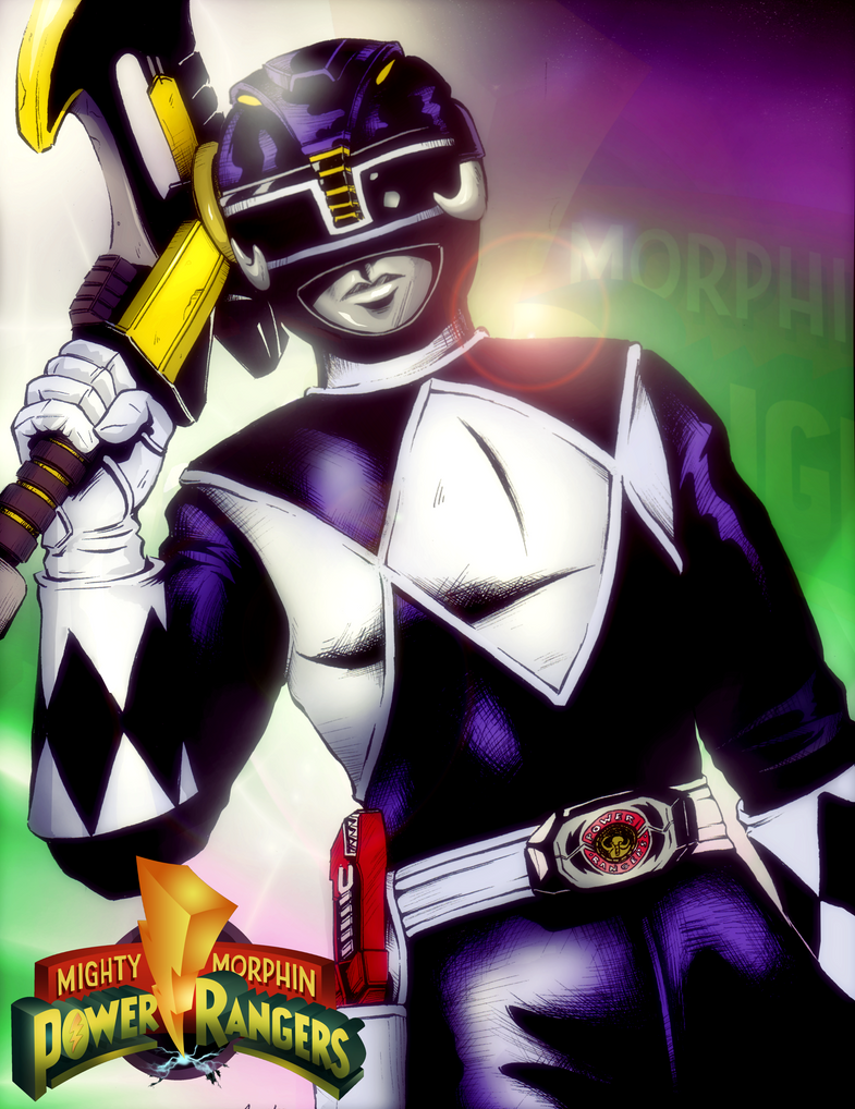Mighty Morphin Black Ranger by S-Forester