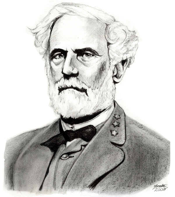 Robert E.  Lee (Pencil commission - 2008) by S-Forester