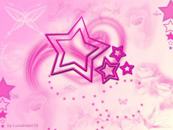 pink star wallpaper. Pink Star Wallpaper by