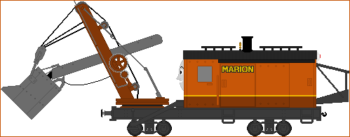 Marion The Steam Shovel by Princess-Muffins