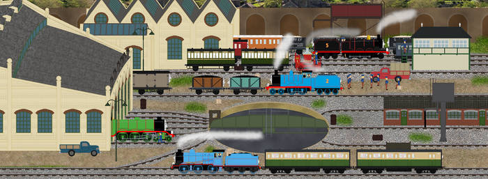 Tidmouth Sheds c.1945 by Princess-Muffins