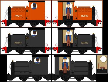 'Realistic Style' Rusty The Little Diesel