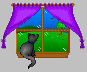 Pixels- Cat in the window by Ikasama